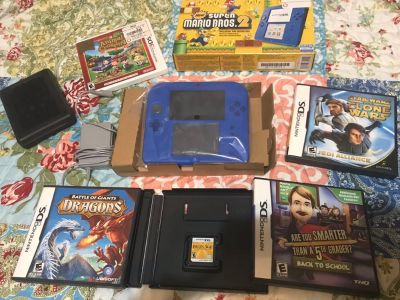 Nintendo 2DS gaming system with accessories and games located in portland
