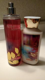 Amber blush bath and body works mist and lotion
