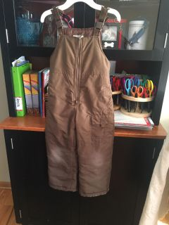 Osh Kosh B'Gosh brand size 5/6 brown snow pants. Used but in great shape