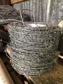 Two rolls of barbed wire