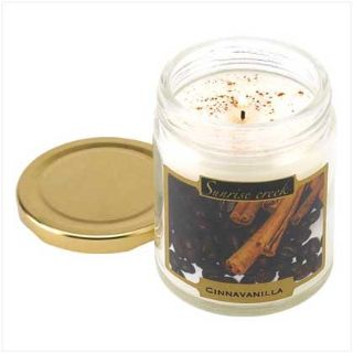 45-hrs Soy Scented Lidded Jar Candle ~ Cinnavanilla ~ New