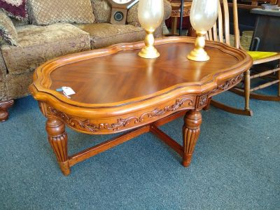 Ornate Wood Coffee Table