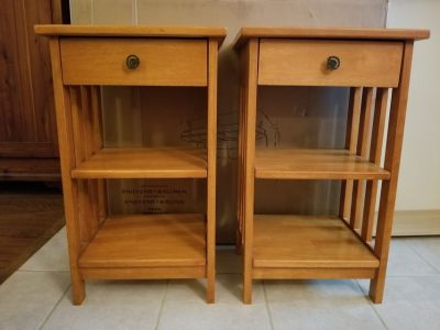 Mission Style Matching End Tables