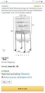 Bird Cage with Rolling Stand
