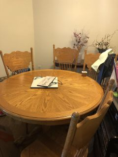 Table & 4 Chairs w/ Leaf