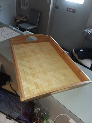 NEW, BAMBOO SERVING TRAY