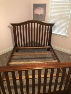 Solid wood bed frame - full size