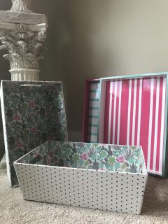 Storage totes and trays