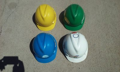 Hard Hats (4) For Sale