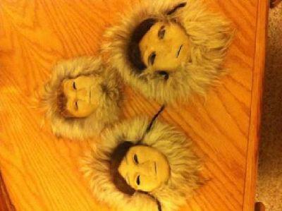 $75 Set of native fur masks (Anchorage)