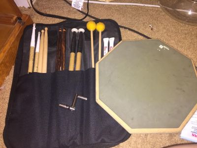Used Stickbag with Sticks and Practice