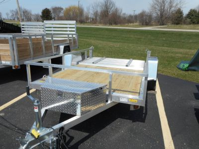 2020 Quality Trailers 74X10 DROP AXLE ALUMINUM TRAILER Utility Trailers Belvidere, IL
