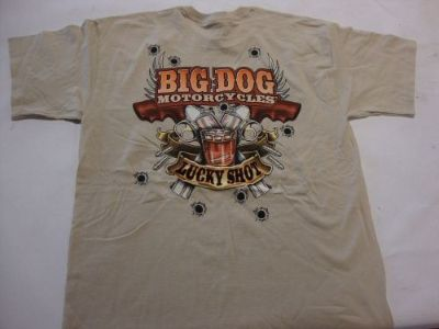 Buy BIG DOG MOTORCYCLE 3X-LARGE SHIRT LUCKY SHOT FRONT & BACK DESIGN COWBOY DESIGN motorcycle in Lyons, Kansas, United States, for US $7.99