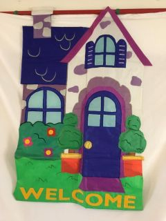 """WELCOME Decorative Flag, size 28 x 44"""". Home house"""