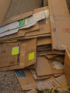 Lots of cardboard boxes!