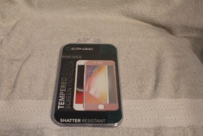 $3 Aconic Tempered Glass screen protector, Rose Gold Iphone