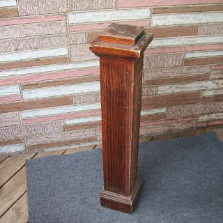 Vintage Newel Post Wood Staircase Column Pedestal