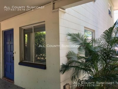 One bedroom apartment in Carriage house apartments. Small building great location in North St Pete!