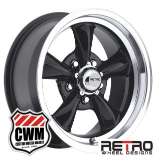 "Buy 15x8"" Retro Wheel Designs Black Wheels Rims 5x4.75"" for Buick Skylark 1964 motorcycle in Grand Terrace, California, US, for US $589.00"
