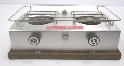 Find Vintage Kenyon Homestream Alcohol Marine Boat Two Burner Stove Model H-2221-B motorcycle in Akron, Ohio, United States