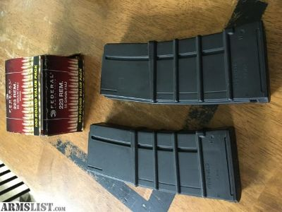 For Sale: Ammo .223/5.56 with 2 mags