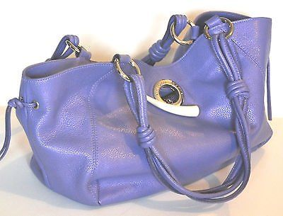 Paolo Masi pastel purple genuine leather shoulder bag purse made in Italy