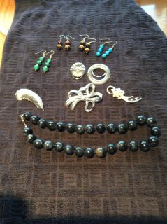 EARRINGS, PINS, NECKLACES, SCARF CLIPS