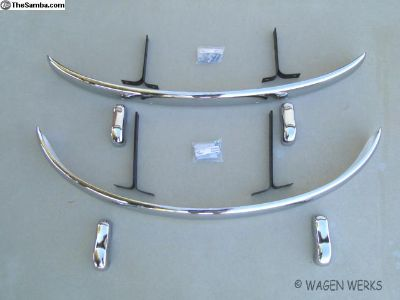 Bug Bumper Front & Rear 1952 to 1967 Euro set