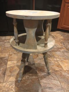 Vintage Wooden two tier Mid Century Coffee/end/side round table.