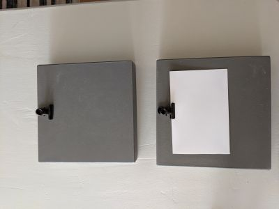 2 picture hanger boxes