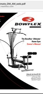 Bowflex Ultimate LikeNew includes: xtra 100# Rod Upgrade, leg extension/curl, hand/ankle cuff, squat platform & belt, laminated chart, mat