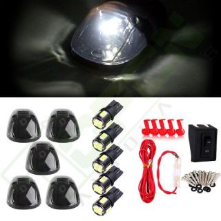 Sell Set of 5 Smoke Roof Top Running Light + Interior T10 LED for 99-02 Dodge Ram motorcycle in Pomona, California, United States