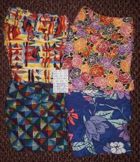 $35 FIRM FOR 4 BRANDNEW PAIRS OF TC2 LULAROE LEGGINGS SELLING AS LOT ONLY-Roses & Floral
