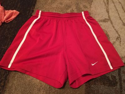Nike medium 8/10 red shorts - ppu (near old chemstrand & 29) or PU @ the Marcus Pointe Thrift Store (on W street)