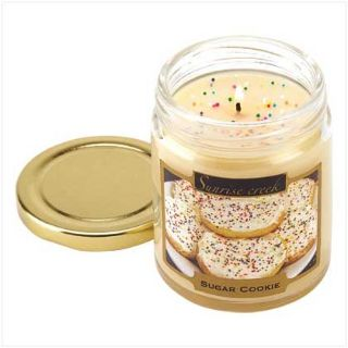45-hrs Scented Lidded Soy Jar Candle ~ Sugar Cookie ~ New