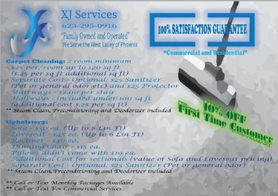 Carpet, Upholstery & Power Wash Services