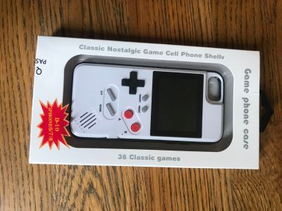 NEW GameBoy iPhone 6/7/8 Case - 36 Games Included