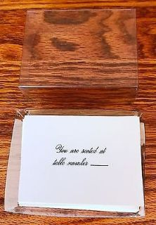 Wedding Place Cards You are seated at Table Number