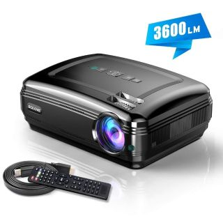 HDMI Projector Full HD 1080P Home Theater Projector for Movie and PowerPoint Presentation by Solove