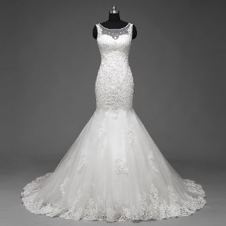 Caroline's Mermaid Lace Wedding Dress