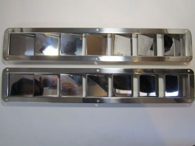 "Find NEW Stainless Steel Vents - 7 Louver - 16 3/8"" x 3"" - FREE SHIPPING motorcycle in Lake Worth, Florida, United States, for US $45.00"