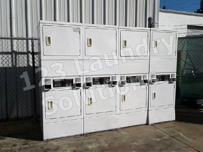 Coin Laundry Double Stack Dryer Speed Queen Model Number: SSG509WF (White) Used