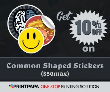 10% Off On Common Shaped Stickers