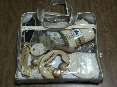Big Clear BEAUTY BAG w/ALL NEW PAMPERING INSIDE.