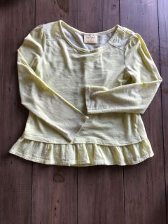 GUC SFH Cat and Jack size 5T yellow long sleeve top
