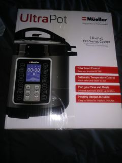New in box never used. Ultra pot pressure cooker. 10 in 1 pro series cooker would be good present