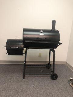30 inch charcoal grill with offset smoker