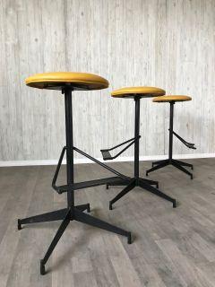 Mid Century Modern industrial bar stools