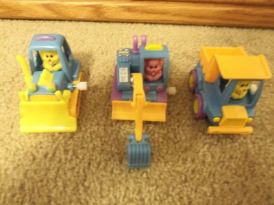 Wind Up Easter Bunny Driven Construction Vehicles