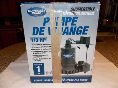 Superior Pump 1/3 HP Sump Pump with Vertical Float Switch